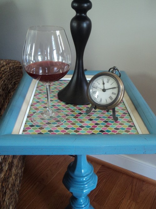 Top of DIY Pedestal Table made by Richmond Thrifter blog