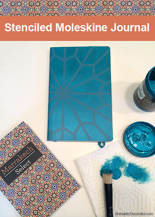 DIY Stenciled Moleskine Travel Journal
