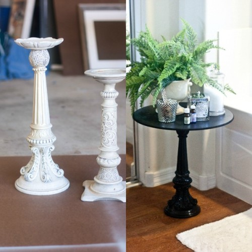From Candlestick to Pedestal Table via Infarrantly Creative