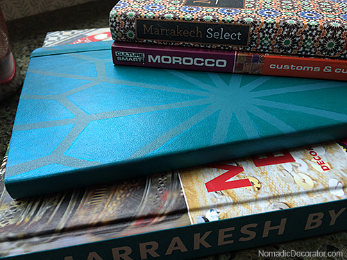 Stenciled Moleskine Travel Journal