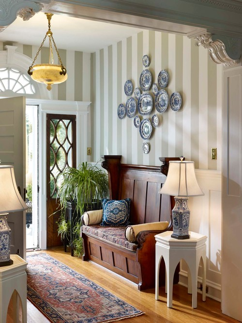 Church Pew in Entry Foyer via Houzz