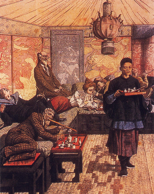 French Opium Den of the early 1900s