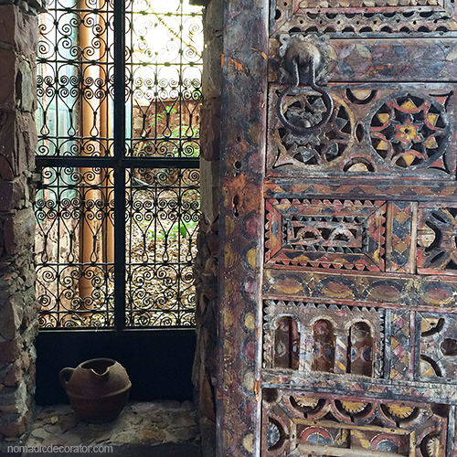 Al Maqam Artist Colony Stone Window Wood Carved Door