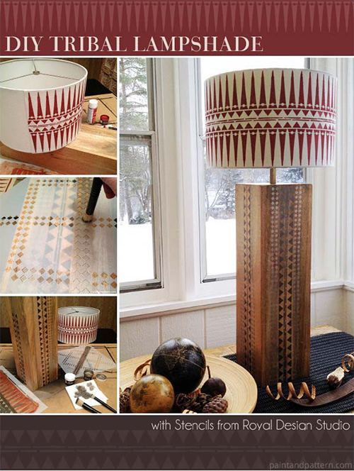 DIY Stenciled Lamp