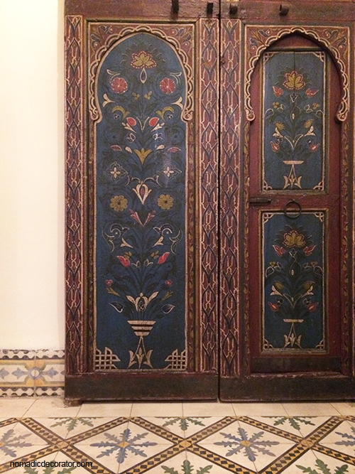 Maison du Tresor Painted Door and Tile