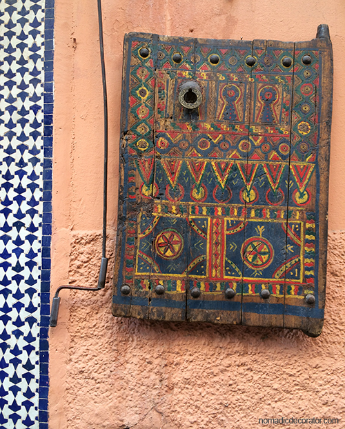Scene on Marrakech Souk Wall