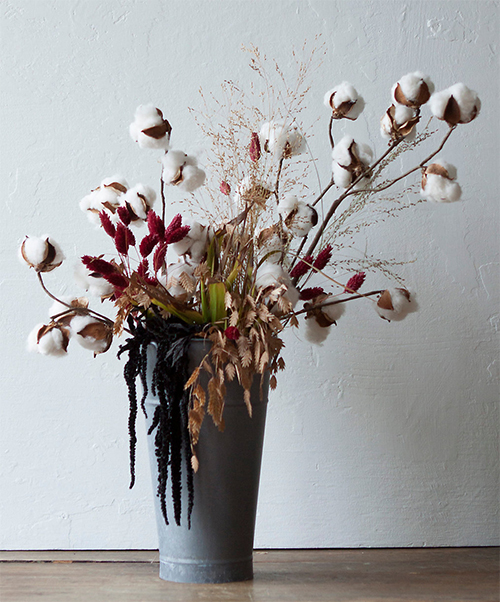 Terrain Cotton and Amaranth Arrangement