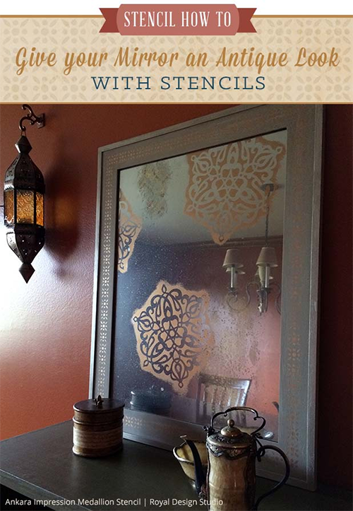 Antique Stenciled Mirror