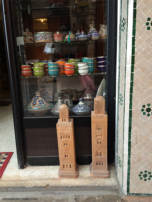 Moroccan Minarets in Marrakech Souk