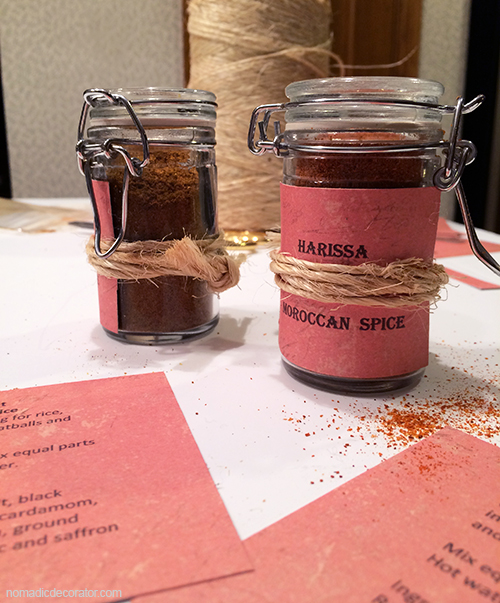 Moroccan Spice Jar Labels