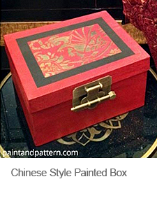 DIY Chinese Style Painted Box