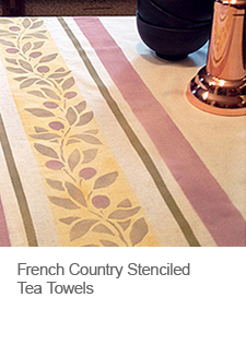DIY French Country Stenciled Tea Towels