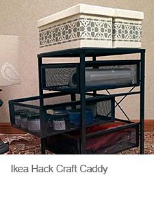 DIY Ikea Hack Craft Caddy