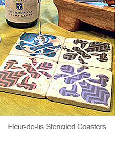 DIY Stenciled Coasters