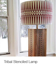 DIY Stenciled Lampshade
