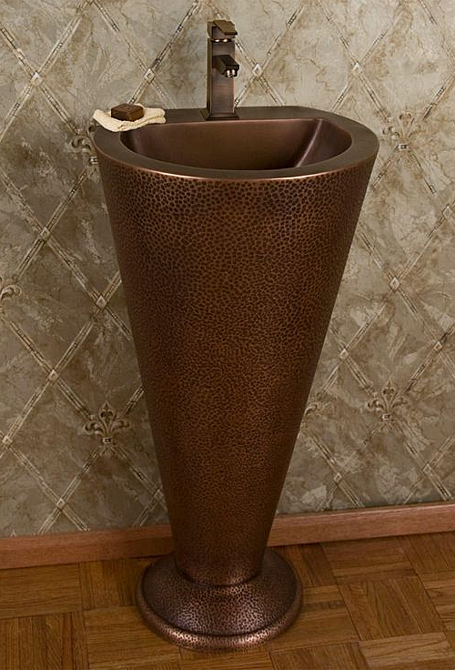 Copper Pedestal Sink