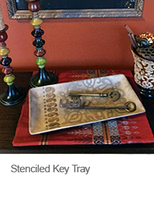 Stenciled Key Tray