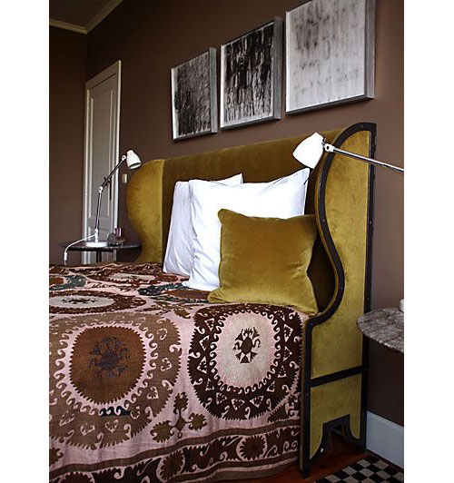 Curry Color Headboard from Casa Midy