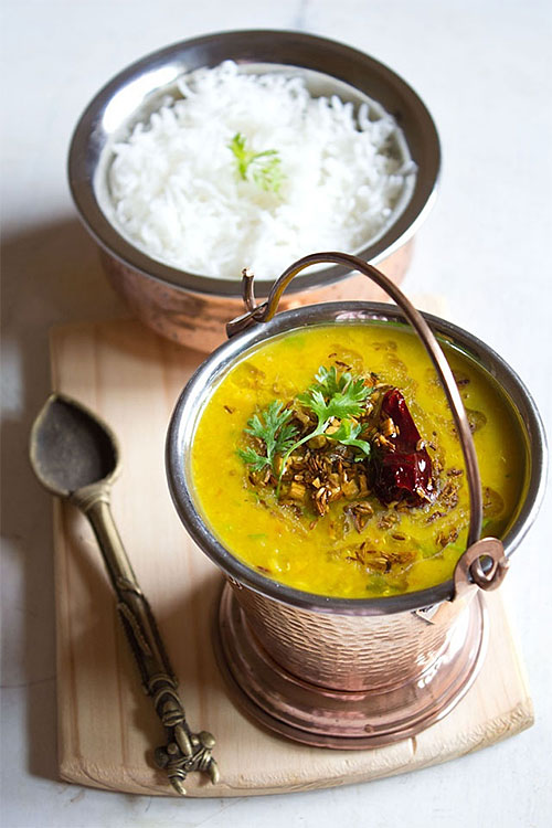 Dal tadka curry recipe via Veg Recipes of India
