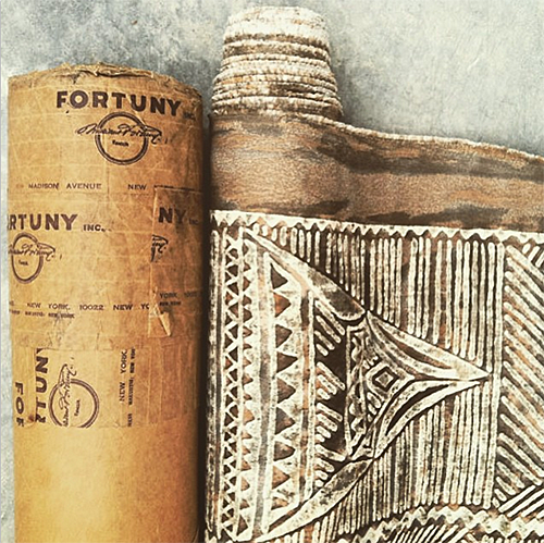 Bolt of Fortuny Fabric