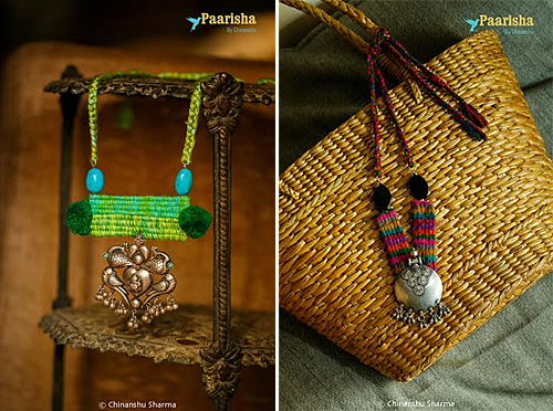 Woven Necklaces from Paarisha by Chinanshu