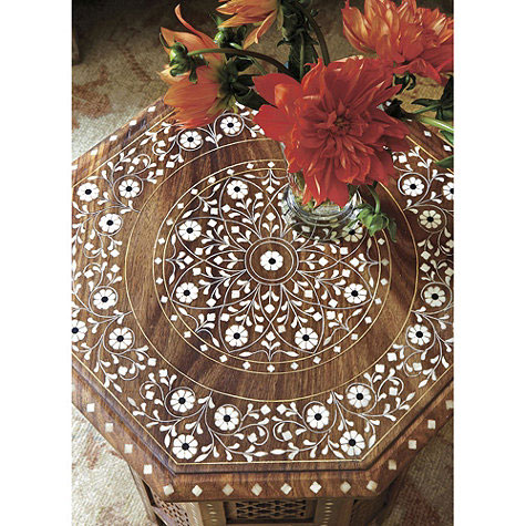 Marrakech Side Table from Ballard Designs Bone Inlay