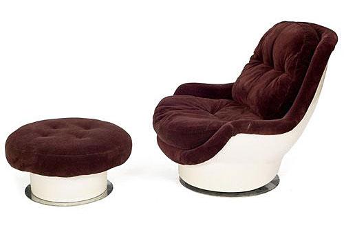 Milo Baughman Molded Fiberglass Chair For Thayer Coggin