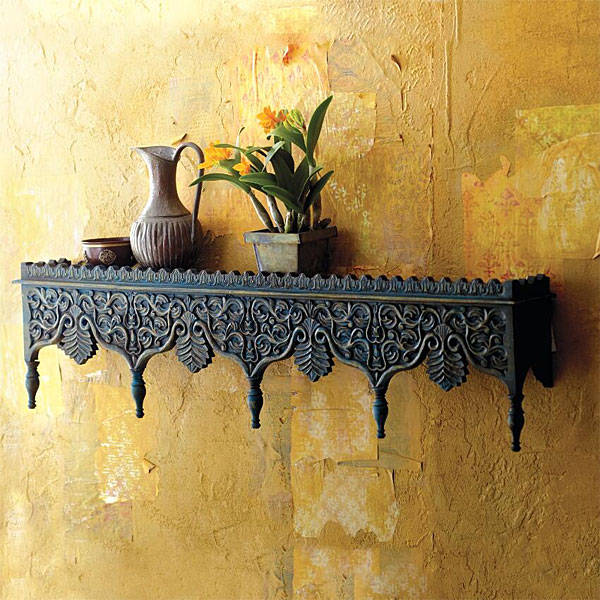 Rajasthani Shelf and Ochre Wall