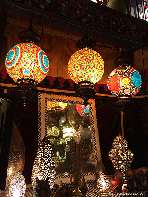 Colorful Lighting at Tresor de Nomades in Marrakech