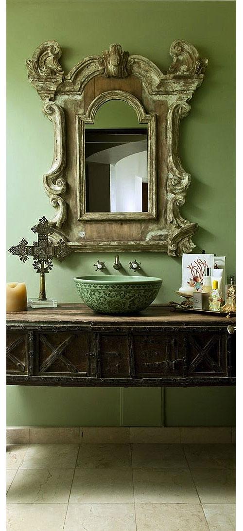 Well-Traveled Bathroom Designed by Sandra Espinet