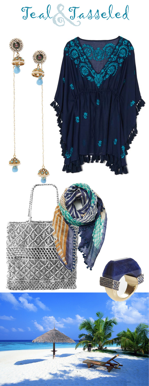 Teal and Tassels