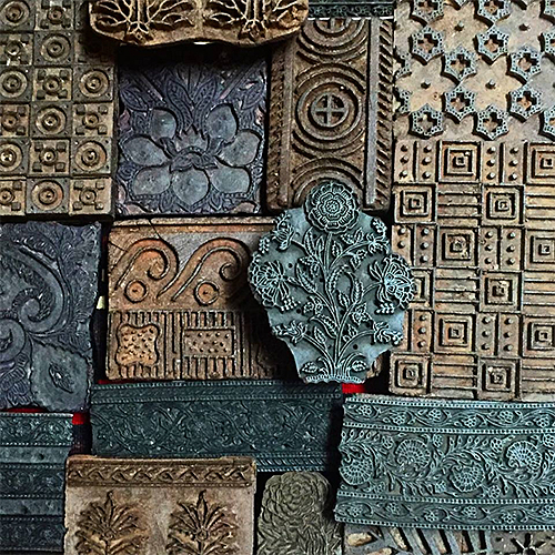 Wood Indian Printing Blocks from Tierra del Lagarto