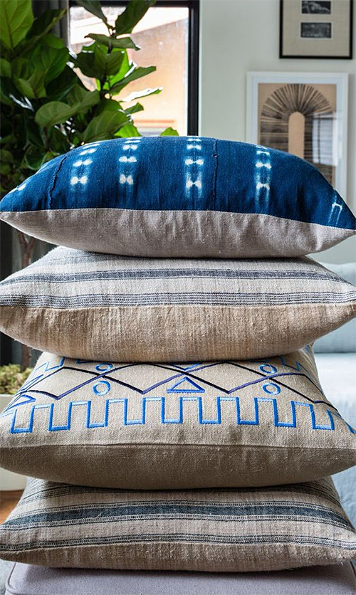 Indigo Pillows from One Kings Lane