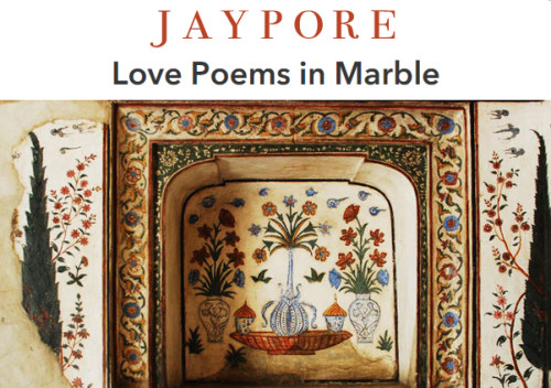 Jaypore Love Poems in Marble Marble Inlay from Agra