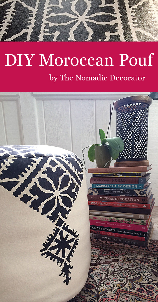 DIY Moroccan Pouf Tutorial and Pattern Inspiration