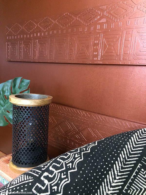 Copper Raised Pattern Wall Art