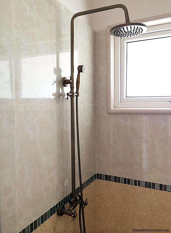 Brushed Brass Shower