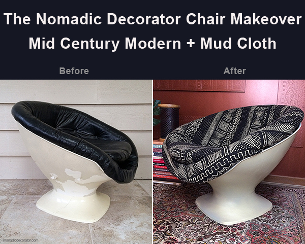 Mud Cloth Upholstery Before After