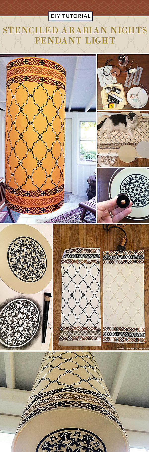http://paintandpattern.com/stenciled-arabian-nights-pendant-light/