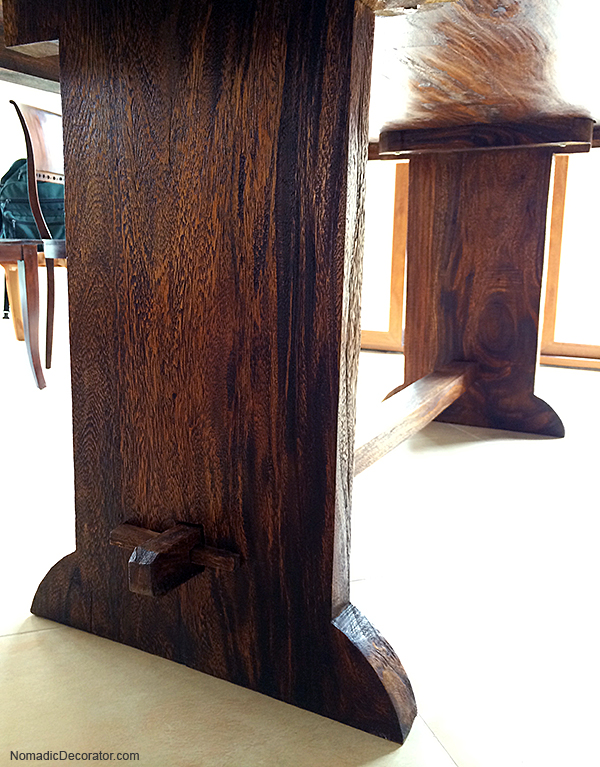 Indonesian Teak Farmhouse Table