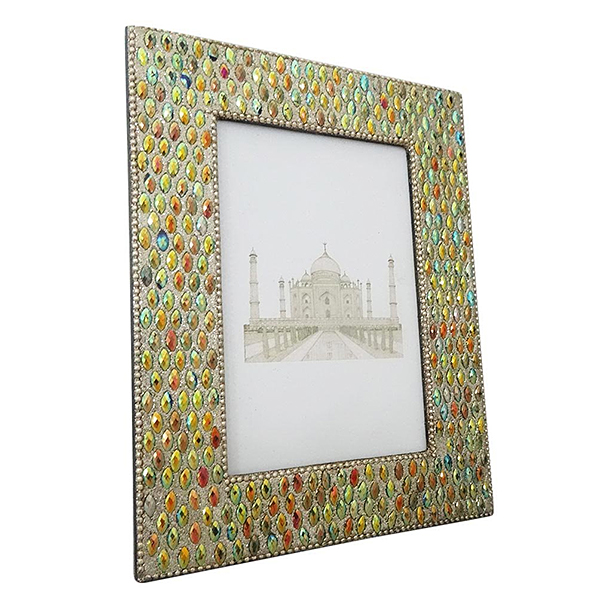 Iridescent Beads Picture Frame