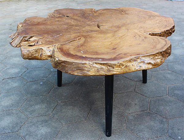 Raw Edge Table at Timber Teak in Chennai