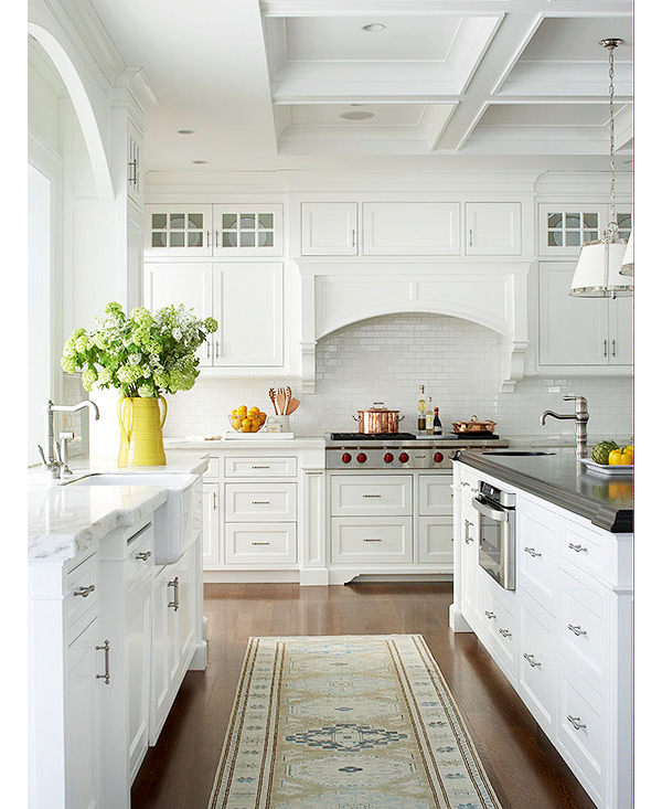rugs in kitchens | nomadic decorator