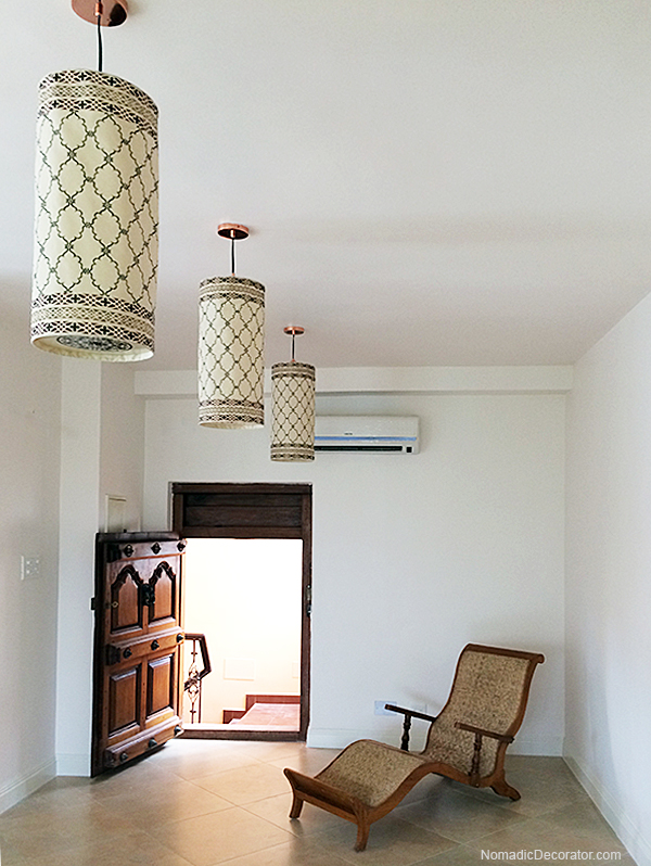 Stenciled Ceiling Pendant Lights