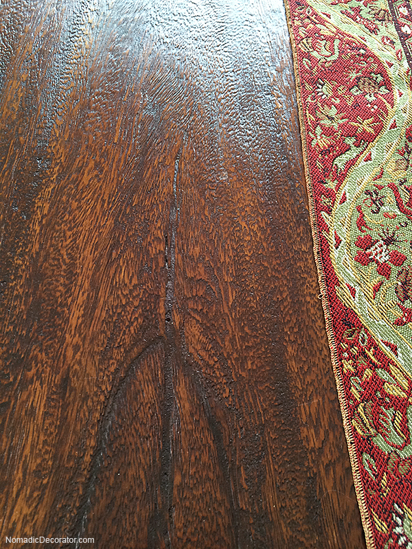 Teak Farmhouse Table Grain