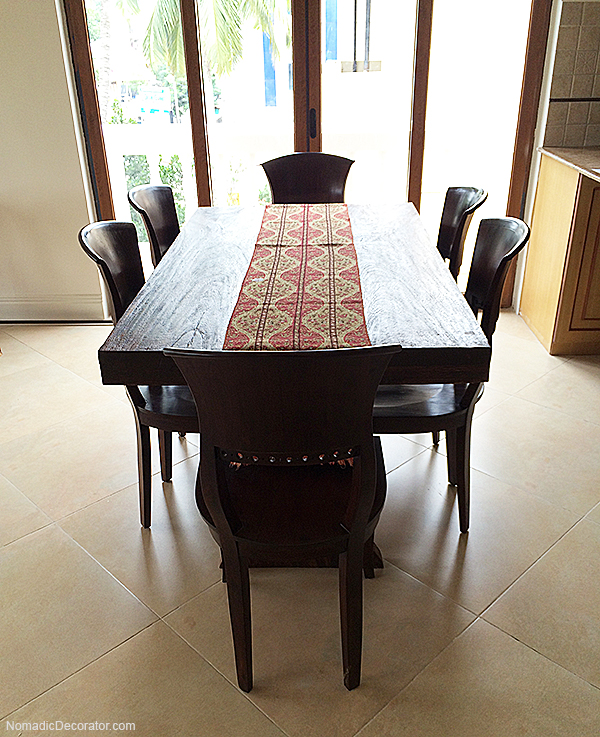Teak Farmhouse Table
