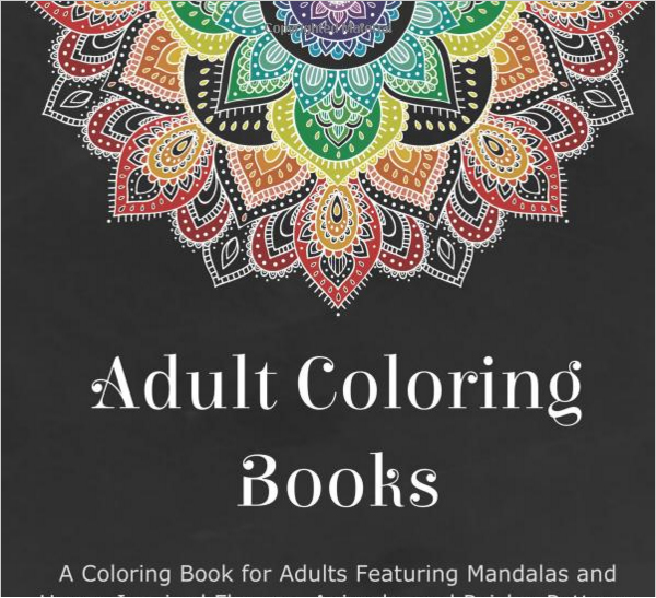 Coloring book with henna and mandala designs