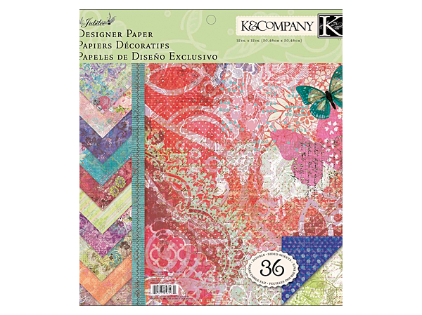 Joann K and Company Jubilee Scrapbook Paper
