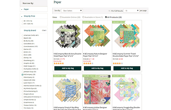 K and Company Scrapbook Paper at Joann