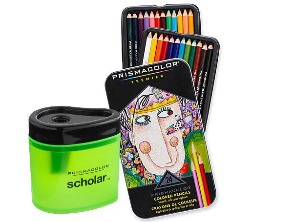 Prismacolor Pencils and Pencil Sharpener